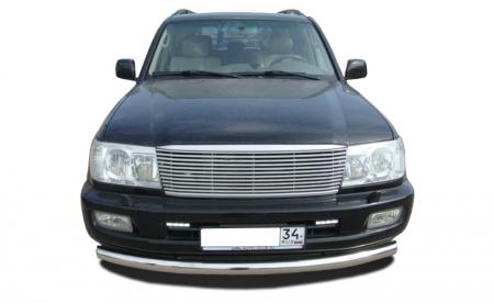 TOYOTA   Land Cruiser 100     1998-2006   Защита переднего бампера (радиус)  76